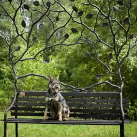 кованые скамейки для сада идеи оформления