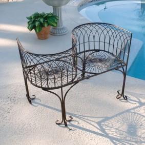 кованые скамейки для сада фото вариантов