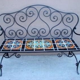 кованые скамейки для сада виды идеи