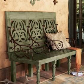 кованые скамейки для сада виды декора
