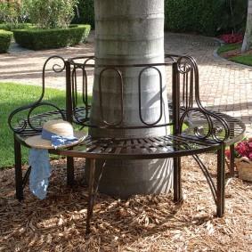 кованые скамейки для сада фото дизайна