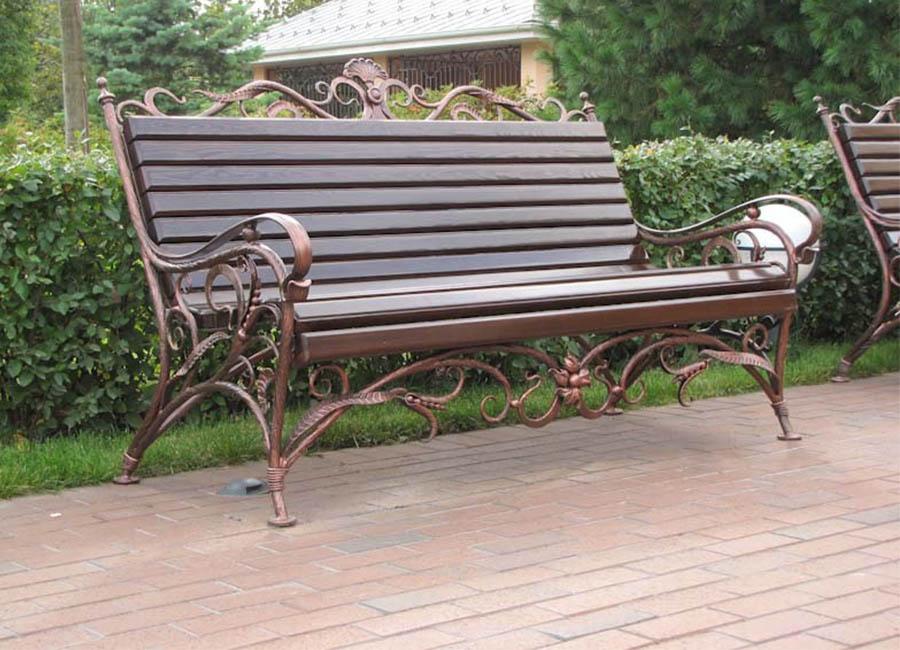 кованые скамейки фото дизайн