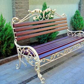 кованые скамейки фото идеи