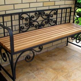 кованые скамейки идеи фото