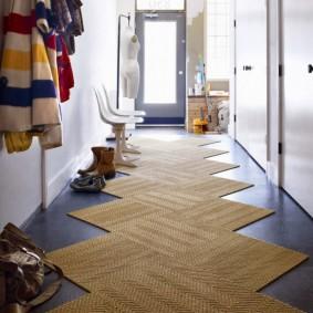 ковровые дорожки в прихожую идеи декор