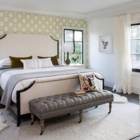 красивая спальная комната декор фото