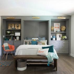 красивая спальная комната идеи интерьер