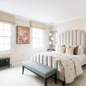 красивая спальная комната оформление