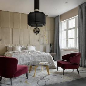 красивая спальная комната оформление фото