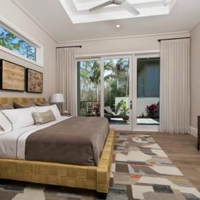 красивая спальная комната фото оформление