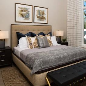 красивая спальная комната фото оформления