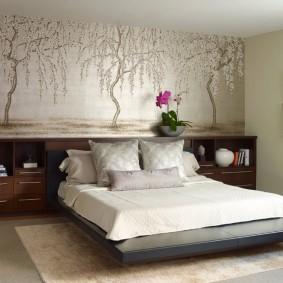 красивая спальная комната обзор