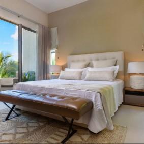 красивая спальная комната дизайн фото