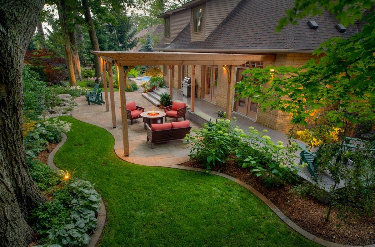 проект двора частного дома фото приборная панель