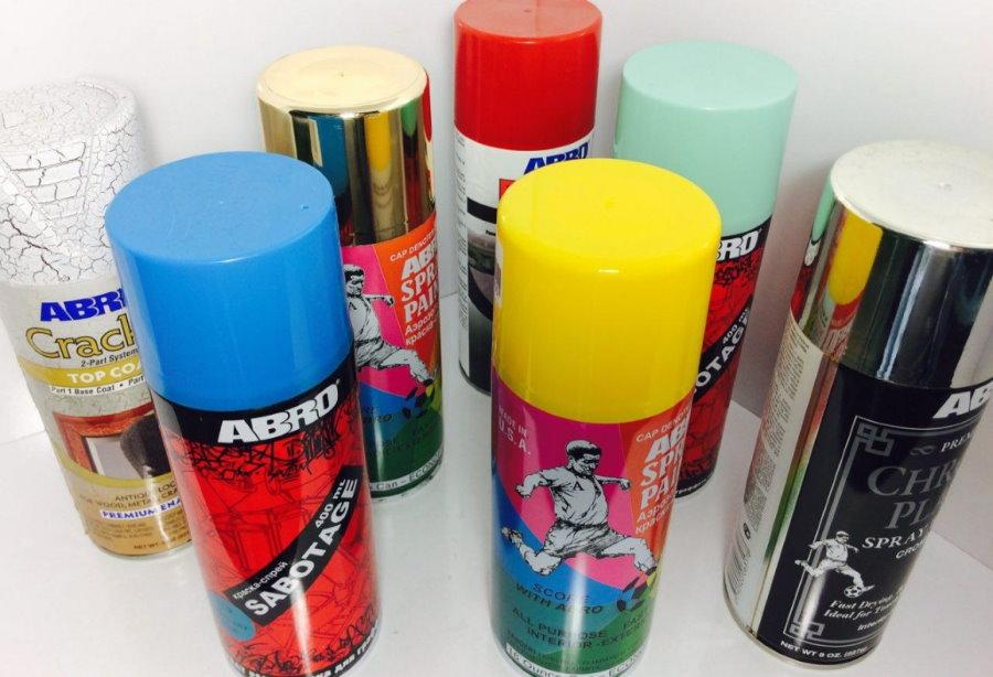 Автомобильная краска в аэрозольной упаковке для покраски забора