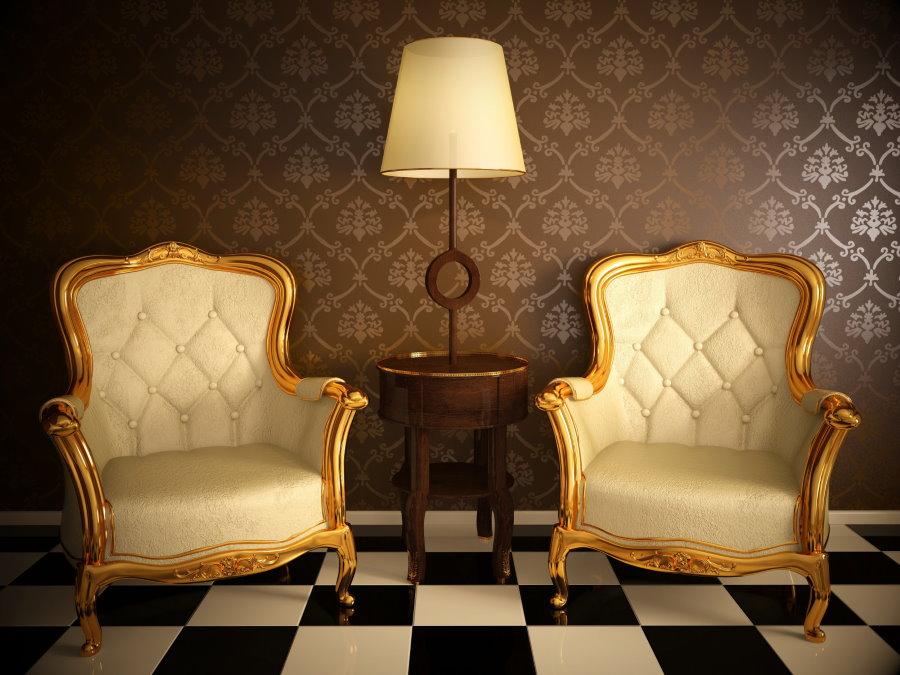 Шикарные кресла в стиле классики
