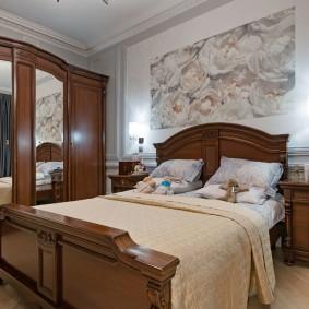 кровать для спальни декор