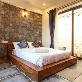 кровать для спальни декор фото