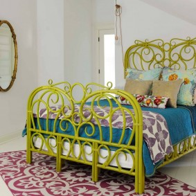 кровать для спальни интерьер