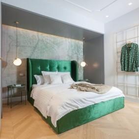 кровать для спальни интерьер фото