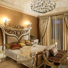 кровать для спальни оформление