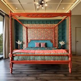 кровать для спальни оформление фото