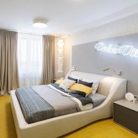 кровать для спальни оформление идеи