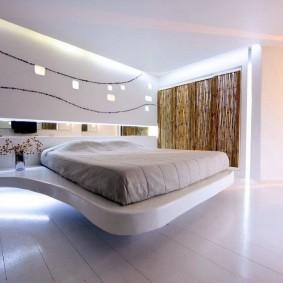 кровать для спальни виды декора