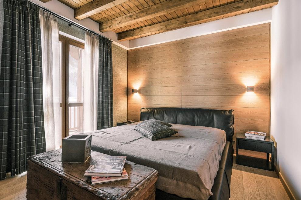 кровать в спальне дизайн