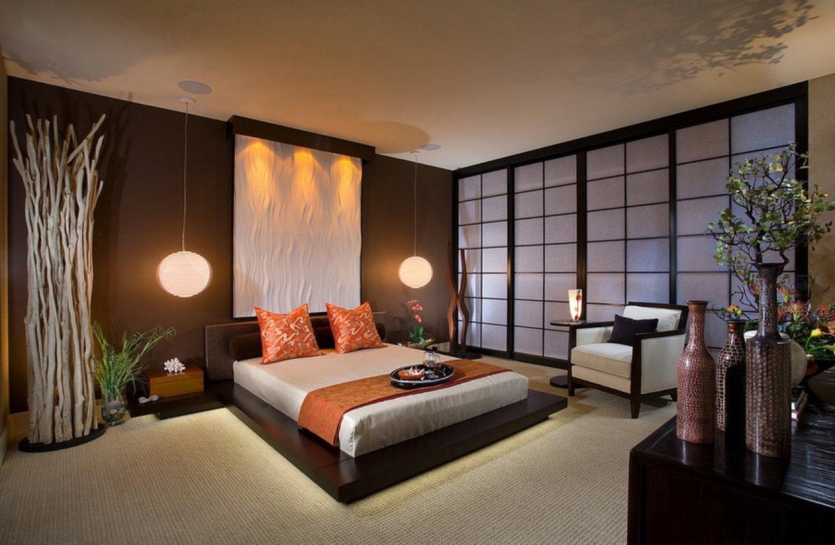кровать в спальне мдф