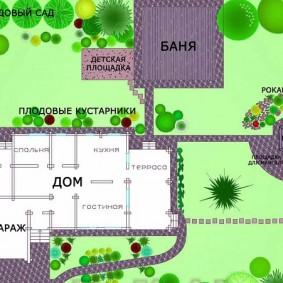 ландшафтный дизайн участка проект фото