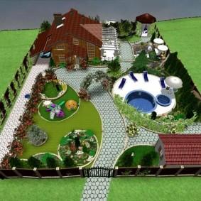 ландшафтный дизайн участка проект идеи