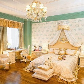 люстра под натяжной потолок в спальне фото декор