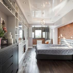 люстра под натяжной потолок в спальне идеи декор