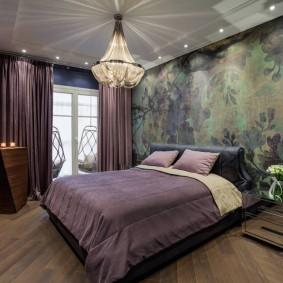люстра под натяжной потолок в спальне интерьер идеи