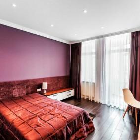 люстра под натяжной потолок в спальне оформление фото