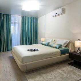 люстра под натяжной потолок в спальне фото оформление