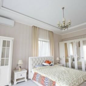 люстра под натяжной потолок в спальне идеи оформление