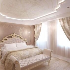 люстра под натяжной потолок в спальне идеи оформления