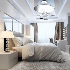 люстра под натяжной потолок в спальне варианты