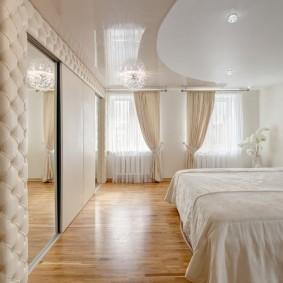 люстра под натяжной потолок в спальне виды фото