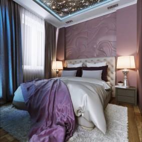 люстра под натяжной потолок в спальне фото дизайна