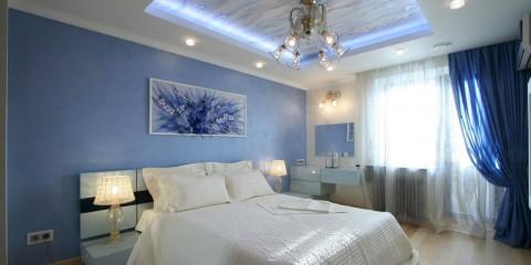 люстры для натяжных потолков в спальне
