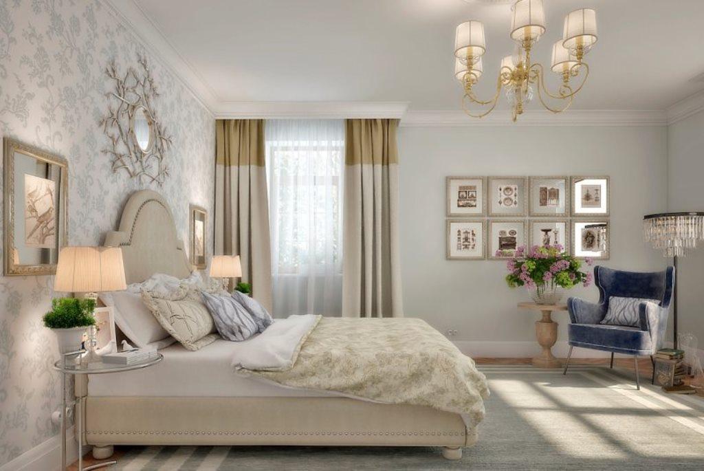 люстры для натяжных потолков в спальне американский стиль