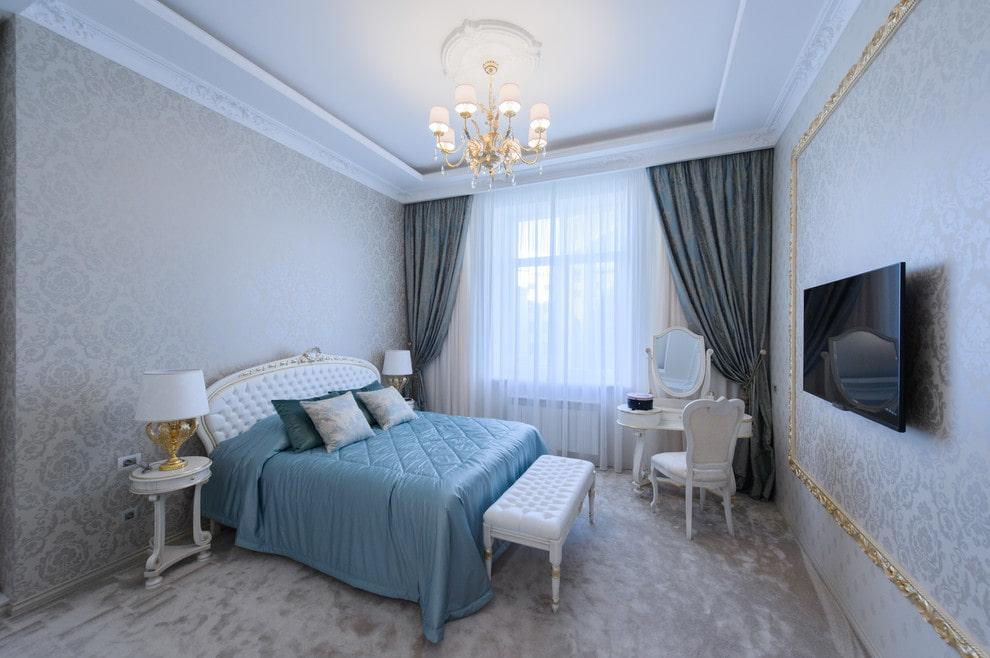 люстры для натяжных потолков в спальне декор фото