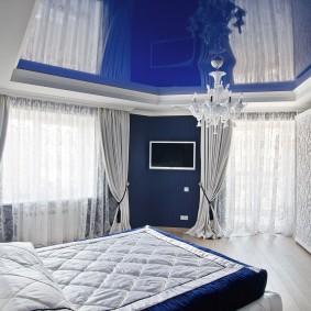 люстры для натяжных потолков в спальне дизайн
