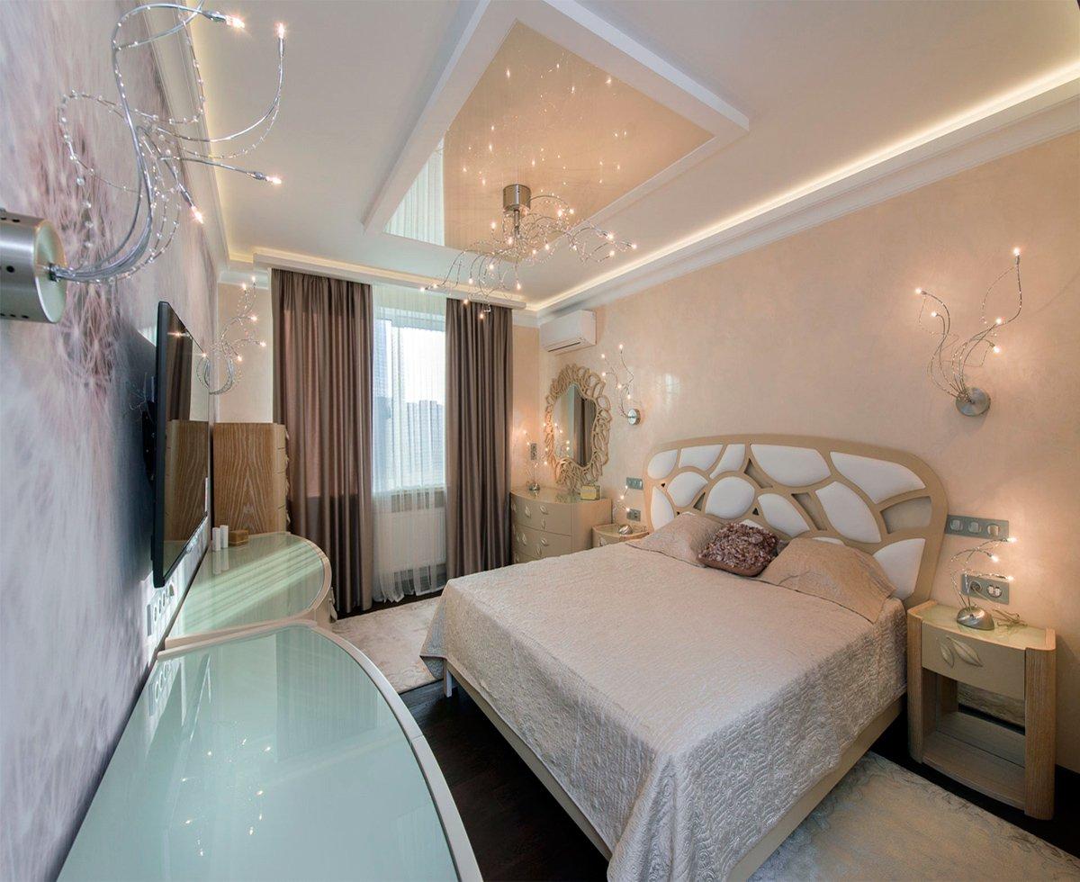 люстры для натяжных потолков в спальне фото дизайн