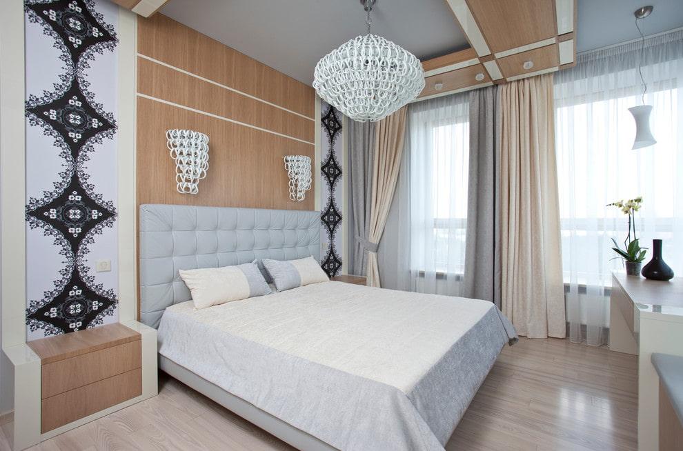 люстры для натяжных потолков в спальне идеи дизайн