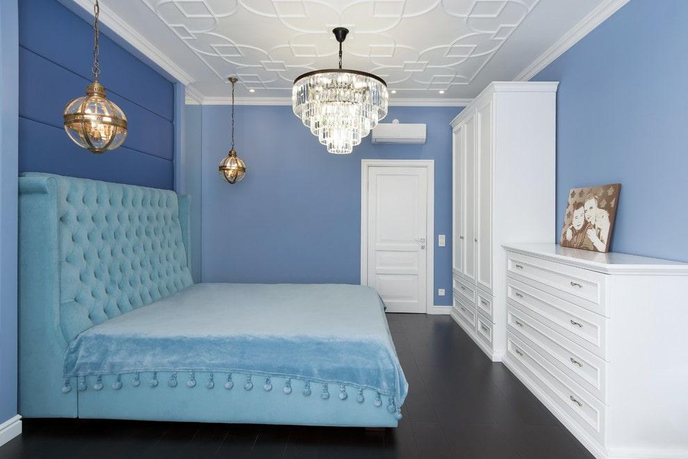 люстры для натяжных потолков в спальне идеи фото