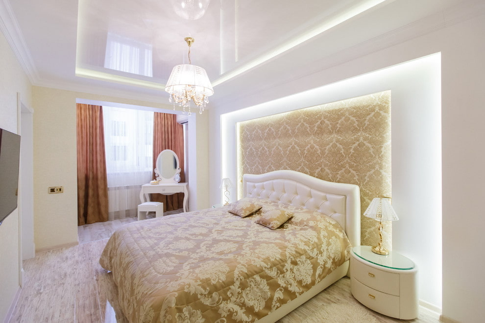 люстры для натяжных потолков в спальне идеи
